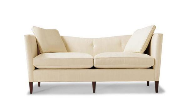 手绘双人沙发成角透视