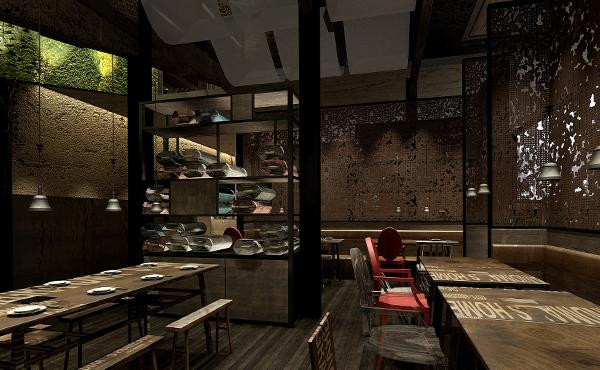 外婆家餐厅合作案例_餐厅装修效果图