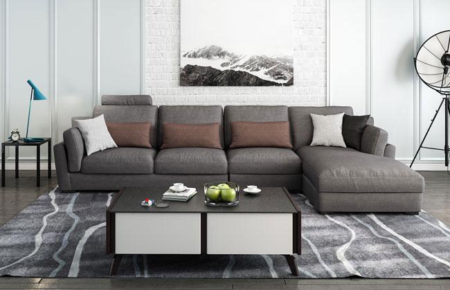 客厅布艺沙发-6001