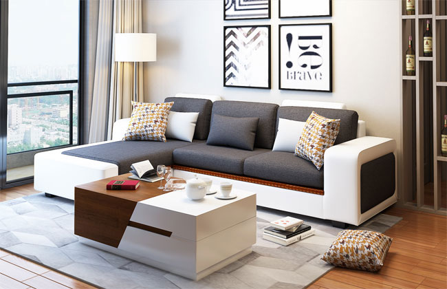 客厅布艺沙发-2091