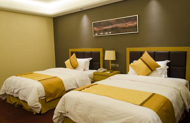 酒店客房双人床_HY-11